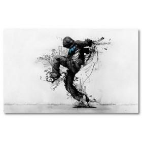 Αφίσα (τέχνη του δρόμου, μαύρο, λευκό, άσπρο)